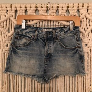 Free People Cutoff denim shorts size 25